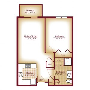 The Meadows One Bedroom