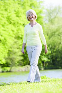 Woman Walking in Retirement Living