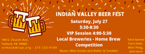 Indian Valley Beer Fest Graphic