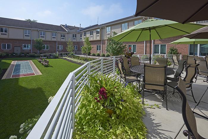 Courtyard with Shuffleboard Court